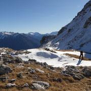 Arrivati al Passo di Stou 2469 m (senza nome sulla CN)