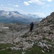 Saliamo sulla cresta erbosa al Guggernüll
