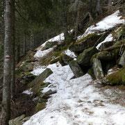 Alcuni passaggi con neve gelata