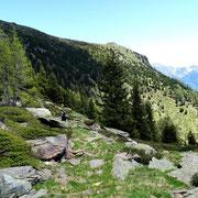 Sul sentiero per l'Alp de Martum