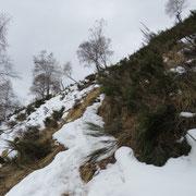 Sotto la cima ... sentiero gelato