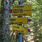 Segnaletica a La Pila 1288 m