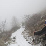 Sentiero che dall'Alpe di Bietri conduce alla Cima della Trosa