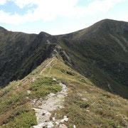 Sulla cresta verso il Monte Segor