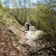 A Sant'Anna seguiamo il sentiero che scende a Indemini........