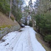 Sulla strada che da Cavagnago sale a Cascine