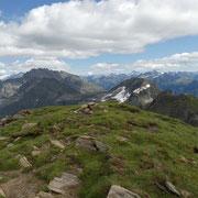 Panorama dalla cima quotata 2727 m