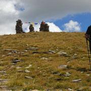 Discesa in cresta alla Bassa del Lago Scuro