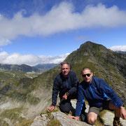 A 2500 m sulla cresta del Piz Pian Grand