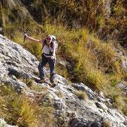 Sul ripido pendio roccioso
