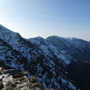 La cresta verso il Monte Lema