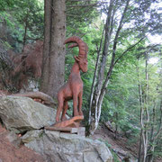 Salita all'Alpe Domàs (Sentiero delle sculture)