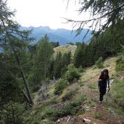 Ritorniamo su bel sentiero alla Capanna Brogoldone