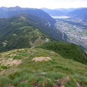 Verso Locarno dalla prima cima 1406 m