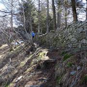 Il sentiero affianca il muro dei polacchi