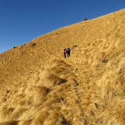 Inizia la discesa per l'Alpe Fossada