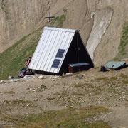Piccolo rifugio vicino al Passo del Gries