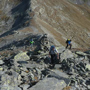 Sulla cresta verso il Monte Prosa