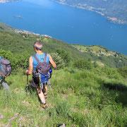 Dall'Alpe Pianoni scendiamo a Rescerasca