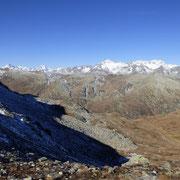 Panoramica dalla cresta che conduce al Monte Prosa