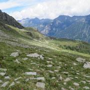 In discesa verso l'Alp di Rossiglion