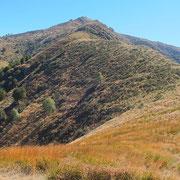Verso la cima senza nome quotata 1585 m ed il Monte Bar