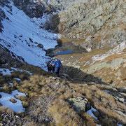A Leiarozza abbandoniamo il sentiero della Valle dei Cani