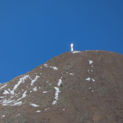 La croce sul Gazzirola (che non è la vetta)