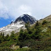Pizzo di Claro durante la discesa all'Alpe di Motto