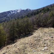 Alpe Càuri 1477 m, verso la Cima di Negrös