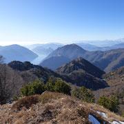 Verso il Lago di Lugano ed il Monte Boglia