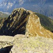 La cresta che arriva fino alla Cima d'Aspra