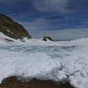 Lago dei Campanitt al Passo delle Colombe 2381 m