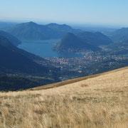 Arrivati in cresta a 1566 m .... verso Lugano