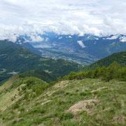 Arrivati in cresta  ......... verso Locarno