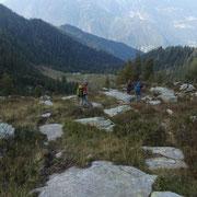 Discesa su sentierino delle pecore verso Cadolcia