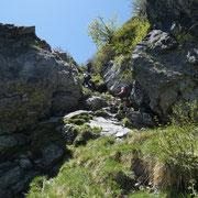 Inizia la salita alla Punta di Valstorna