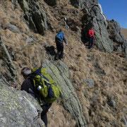 Passaggi esposti tra le rocce