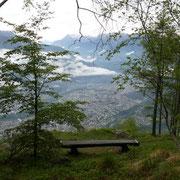 A 1125 m deviamo su sentiero segnalato con bollini rossi (Scenic Trail) verso il Cucchetto