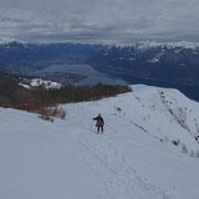 Discesa verso l'Alpe di Naccio