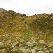 Arrivati alla deviazione per l'Alpe Matro