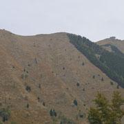 Dall'altra parte della valle la Biscia e la Cima delle Cicogne