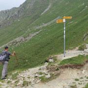 Passo San Jorio 2011 m, ritorniamo su bellissimo sentiero alla Biscia
