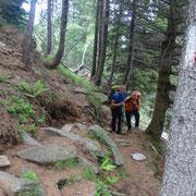 Dall'Alpe Cassengo uno strappo di 250 m fino alla Capanna Albagno
