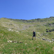 Si vede la cresta che percorreremo fino al Pizzo di Campello