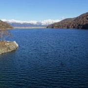 Lago Delio 930 m visto dalla diga Sud
