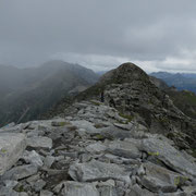 Verso la cima quotata 2727 m