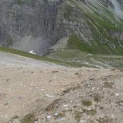 Dalla cima quotata 2799 m verso il Lückli