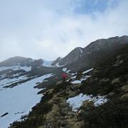 Verso la Bocchetta a 2138 m