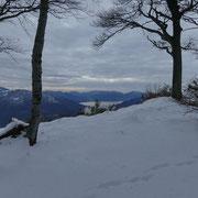 In salita verso l'Alpe di Naccio